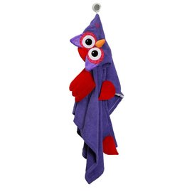Zoochini Olive Owl Big Kid Towel