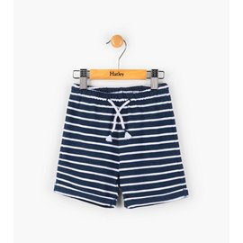 Hatley Navy Striped Mini Pull-On Shorts