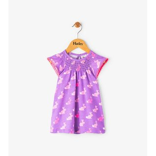 Hatley Cottontail Mini Flutter Sleeve Dress