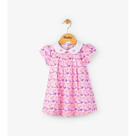 Hatley Parade Horses Mini Collared Dress