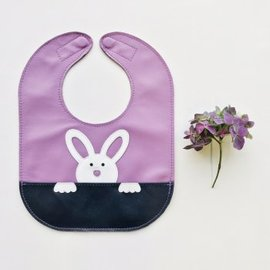 Mally Bibs Mally 100% Leather Bib Bunny Baby