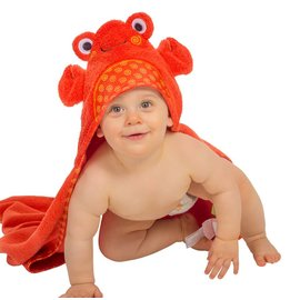 Zoochini Charlie the Crab Baby Towel