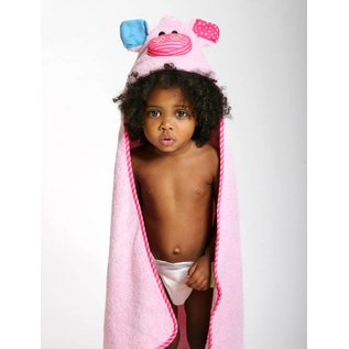 Zoochini Pinky the Piglet Baby Towel