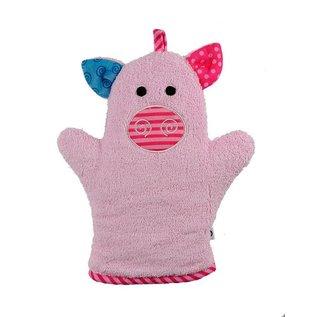 Zoochini Pinky the Piglet Bath Mitt