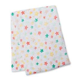 Lulujo Bright Star Cotton Muslin Swaddle