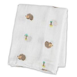 Lulujo Hedgehogs Cotton Muslin Swaddle