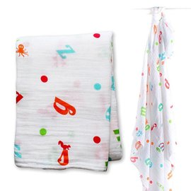 Lulujo Alphabet Cotton Muslin Swaddle