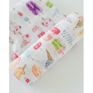 Little Unicorn Brain Freeze Cotton Muslin Swaddle