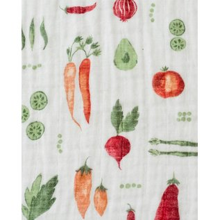 Little Unicorn Farmer's Market Cotton Muslin Swaddle