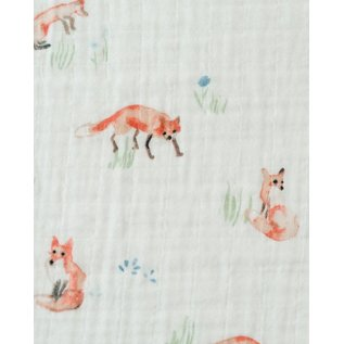 Little Unicorn Fox Cotton Muslin Swaddle