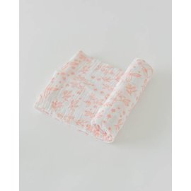 Little Unicorn Garden Rose Cotton Muslin Swaddle