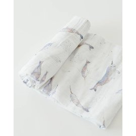 Little Unicorn Narwhal Cotton Muslin Swaddle