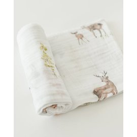 Little Unicorn Oh Deer Cotton Muslin Swaddle