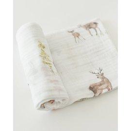 Little Unicorn Oh Deer Cotton Muslin Swaddle