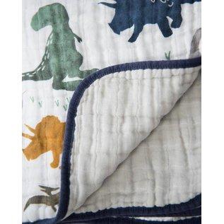 Little Unicorn Dino Friends Cotton Muslin Quilt
