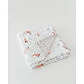 Little Unicorn Fox Cotton Muslin Quilt
