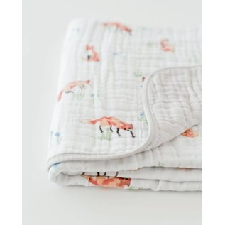 Little Unicorn Fox Cotton Muslin Quilt