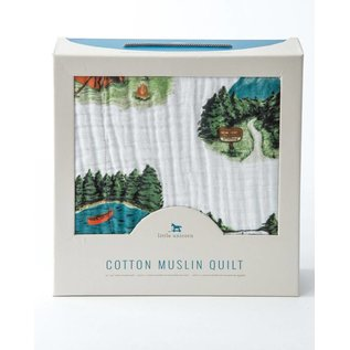 Little Unicorn Happy Camper Cotton Muslin Quilt