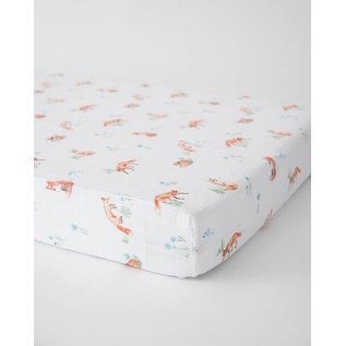 Little Unicorn Fox Cotton Muslin Crib Sheet