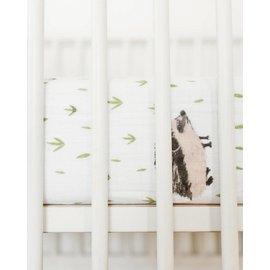 Little Unicorn Hedgehog Cotton Muslin Crib Sheet