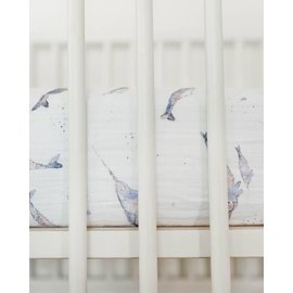 Little Unicorn Narwhal Cotton Muslin Crib Sheet