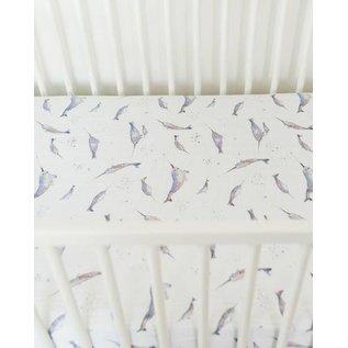 Little Unicorn Narwhal Cotton Muslin Crib Sheet