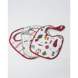 Little Unicorn Farmer's Market Cotton Muslin Bib 3pk