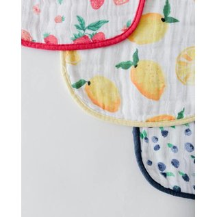 Little Unicorn Berry Lemonade Cotton Muslin Bib 3pk