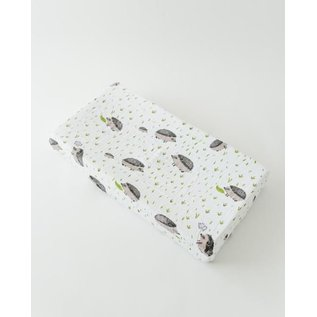 Little Unicorn Hedgehog Cotton Muslin Changing Pad Cover