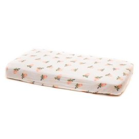 Little Unicorn Watercolour Rose Cotton Muslin Changing Pad Cover