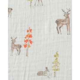 Little Unicorn Oh Deer Cotton Muslin Crib Sheet
