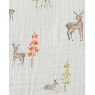 Little Unicorn Oh Deer Cotton Muslin Crib Sheet