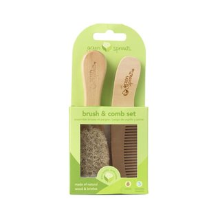 Wooden Brush & Comb Set