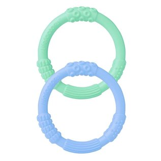 Life Factory Teether 2pk, Mint/Blanket