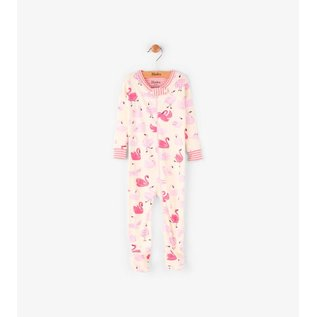 Hatley Dancing Swans Mini Footed Coverall