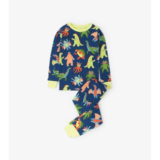 Hatley Organic Mega Monsters PJ Set