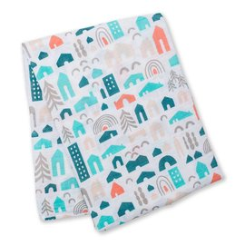 Lulujo Neighbourhood Cotton Muslin Swaddle
