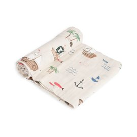 Little Unicorn Treasure Map Muslin Swaddle