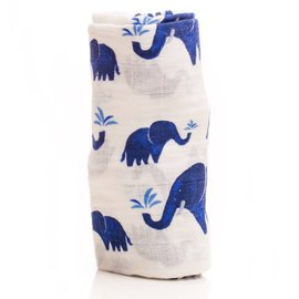 Little Unicorn Indie Elephant Muslin Swaddle