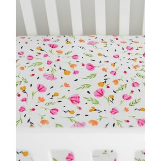 Little Unicorn Berry & Bloom Muslin Crib Sheet