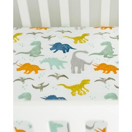 Little Unicorn Dino Friends Muslin Crib Sheet
