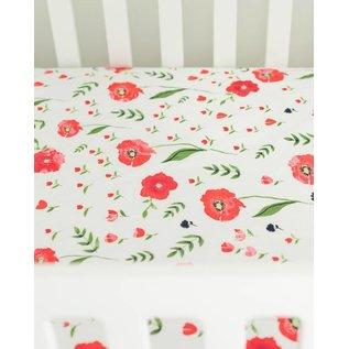 Little Unicorn Summer Poppy Muslin Crib Sheet