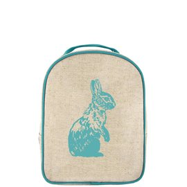 SoYoung Aqua Bunny Raw Linen Little Lunchbox
