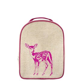SoYoung Pink Fawn Raw Linen Little Lunch Box
