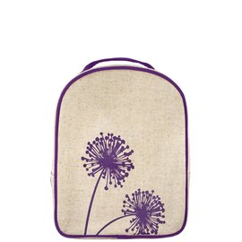 SoYoung Purple Dandelion Raw Linen Little Lunch Box