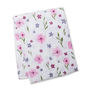Lulujo Lovely Floral Cotton Muslin Swaddle