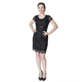 Momzelle Black Nursing Dress, ELLA