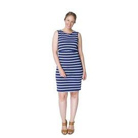 Momzelle Blue Nursing Dress, MEGAN