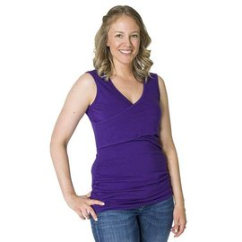 Momzelle Purple Nursing Tank, LUCY
