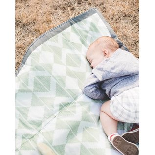 Little Unicorn Green Weave Outdoor Blanket